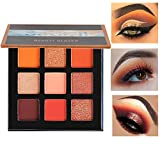 Beauty Glazed Pressed Eyeshadow Palette 9 Color Diamond Glitter Metallic Makeup Palette Matte Shimmer High Pigment Professional Mini Eye Shadow Kit (SATURN)