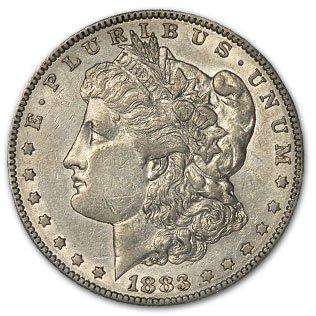 1883 S Morgan Dollar AU-55 Details (Cleaned) $1 AU-55