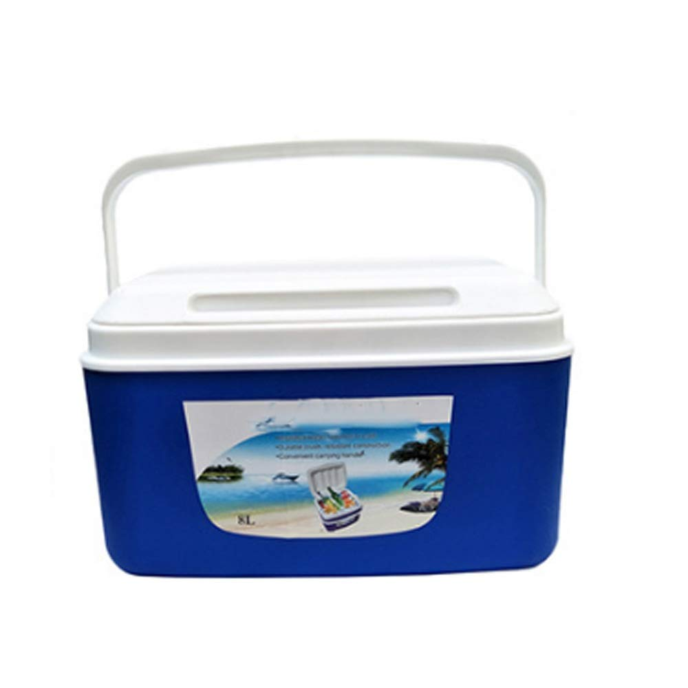 DEFfd Outdoor Incubator Freezer 8L / Liter Portable Portable for Family, Outdoor Picnic, Car Food Cold Chain Plastic Ice Bucket (Color : Blue)