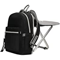 BigTron Ultralight Backpack Stool Combo - Compact Lightweight Backpack and Portable Folding Cooler Chair- Perfect for Camping Fishing Hiking Picnic Outdoor Watching Sports Events BBQ