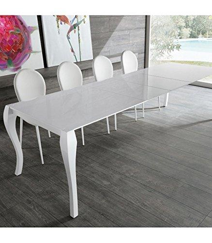 Tavolo Da Pranzo Allungabile Piano Legno.Tavolo Da Pranzo Allungabile In Legno Shining Di Stones 170