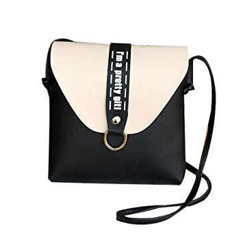 Fashion Womens Crossbody Bags PU Leather with Letters Handbag for Ladies