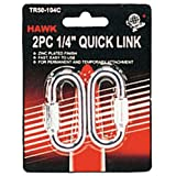 "ToolUSA Quick Links 2pc-carded 1/4"": TR-50140-Z02 : ( Pack of 2 Sets )"
