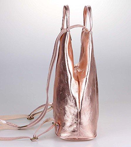 Beautiful main Only Sac 25x30x11 Metallic au BxHxT dos pour porté OBC ca femme Blanc à cm Couture Rosa Weiß 4B5xWqRH
