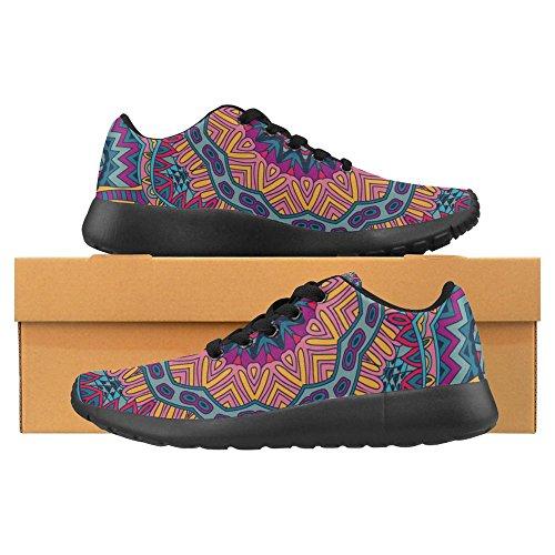 Interessante Womens Jogging Da Corsa Sneaker Leggero Go Easy Walking Casual Comfort Da Corsa Scarpe Astratto Festivo Colorato Grunge Vettoriale Etnico Tribale Modello Multi 1