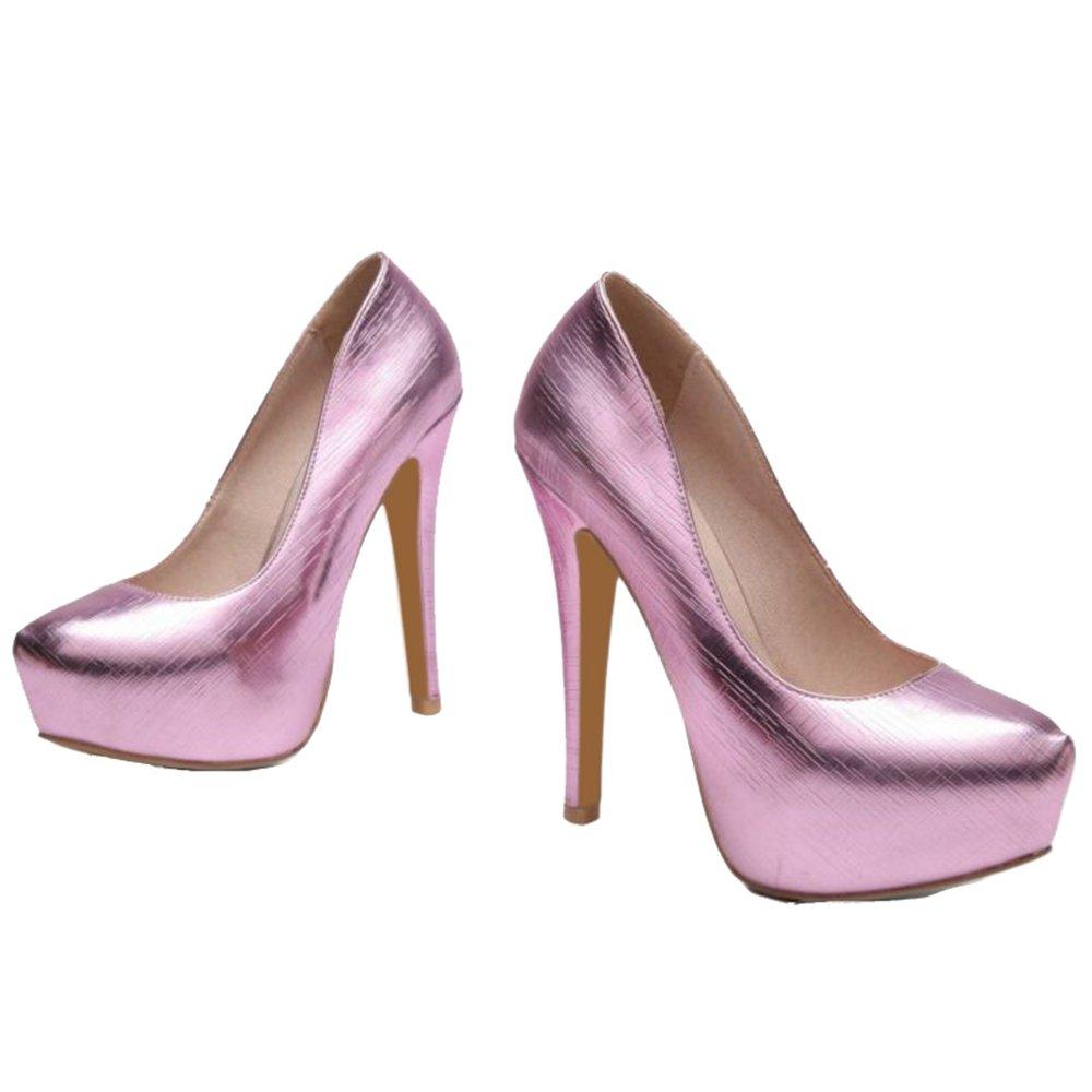 Chicmark Schuhe Damen Sexy Plateau Pumps mit Stiletto Absatz Schuhe Chicmark für Party Rosa bd6160