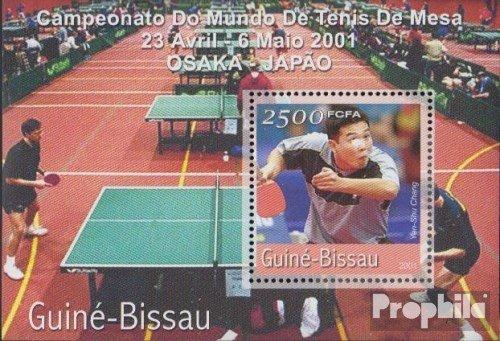 Prophila Collection Guinea-Bissau Block320 2001 Mesa de Ping Pong ...