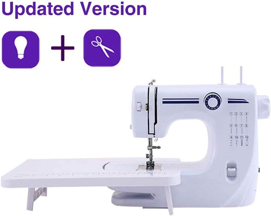 Nologo Mini máquina de Coser eléctrica con la Tabla de ampliación, 12 Puntadas de artesanía de la reparación de la máquina de Coser Tela de la Ropa Craft rápida, for Adultos y niños