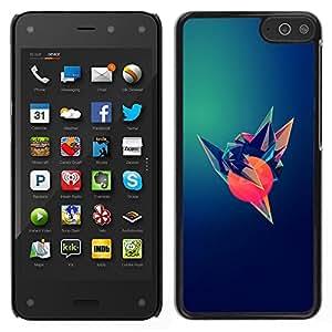 LECELL--Funda protectora / Cubierta / Piel For Amazon Fire Phone -- Pájaro Sun Arte Polígono oscuro Esperanza --