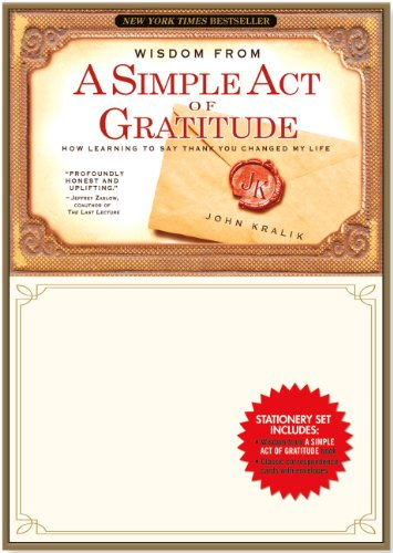 A Simple Act of Gratitude Stationery Set (Thank You Notes, Correspondence Cards)