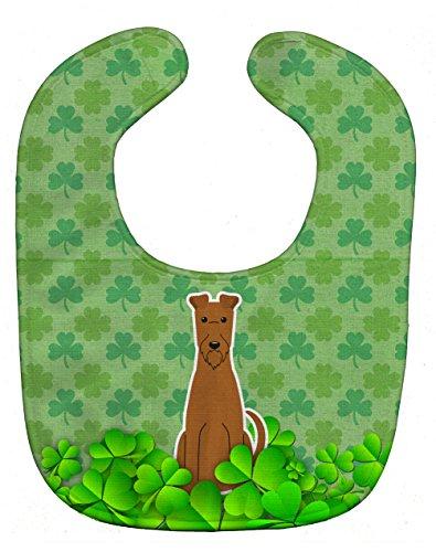 (Caroline's Treasures Shamrocks Baby Bib, Irish Terrier, Large)