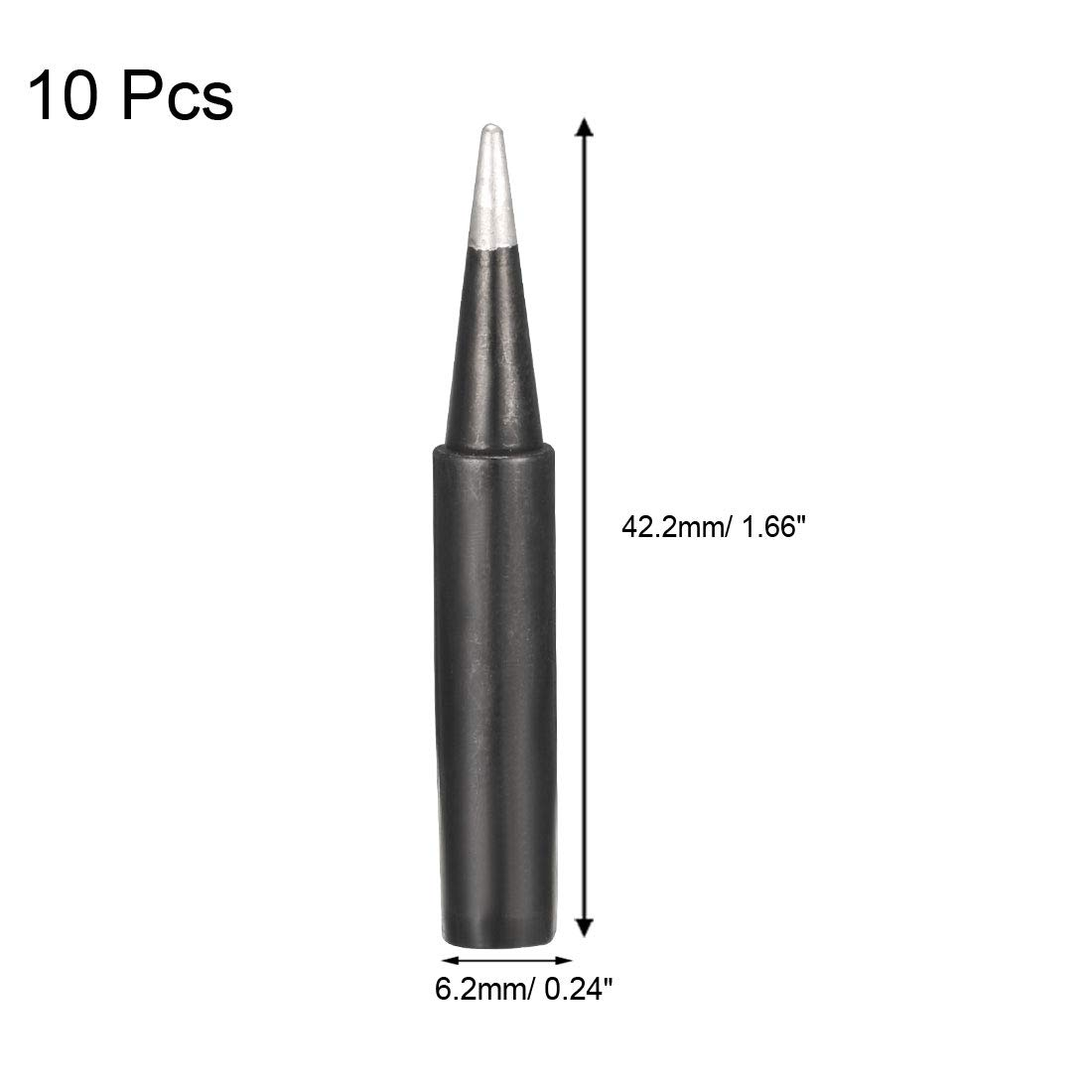 sourcing map 70mm Length 60W Replaceable Welding Tool Soldering Iron Tips 5pcs