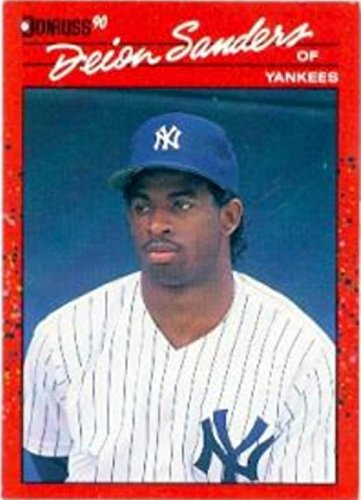 finest selection bdaca 896c6 Deion Sanders baseball card (New York Yankees) 1990 Donruss ...