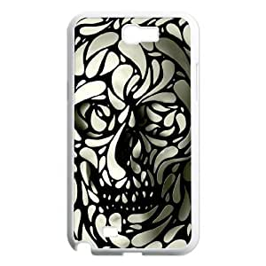 case Of Skull Customized Bumper Plastic Hard Case For Samsung Galaxy Note 2 N7100