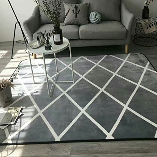 Modern Area Rug Non-slip Kids Playmat Baby Crawling Mat - Ultra Soft Flannel Surface Decorative Rug for Living Room Bedroom - Breathable Comfortable & Machine Washable (78''X76'', Style4) by Cusphorn