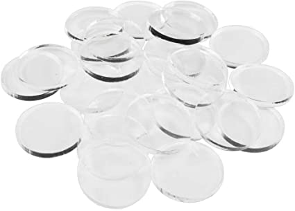 3mm Clear Miniature Bases 25 Circular 30mm LITKO Game Accessories