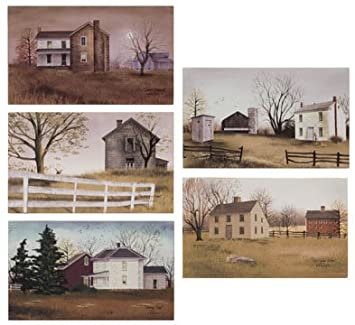 canvas prints billy jacobs countryside canvas collection small 5 pc set primitive country rustic