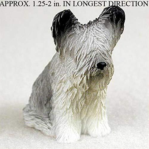 (Ky & Co YesKela Skye Terrier Mini Hand Painted Figurine)