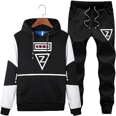 Men Hoodie Zip Up Jacket Pocket Sweatshirt Hooded Tops Casual Tracksuit Jumpsuit