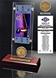 "NFL San Francisco 49ers Super Bowl 19 Ticket & Game Coin Collection, 12"" x 2"" x 5"", Black"