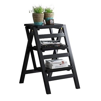 Excellent Amazon Com Decorative Step Stool Folding 3 Tier Ladder Theyellowbook Wood Chair Design Ideas Theyellowbookinfo