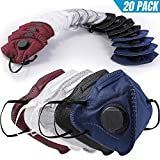 Tools & Hardware : BC N95 Particulate Respirator Mask 20 Pack Disposable Dust Mask with Exhalation Valve for Construction Cleaning Air Pollen Allergy Woodworking Gardening Sanding Painting