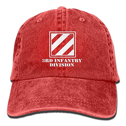 Army 3rd Infantry Division Subdued Veteran Washed Retro Adjustable Cowboy Cap Hiking Caps for Women and Men