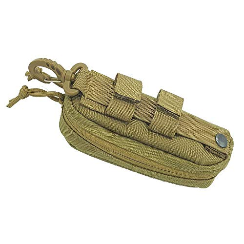 Tactical MOLLE Glasses Shockproof Protective Box Portable Outdoor Sunglasses Pouch Eyewear Carry Case ()