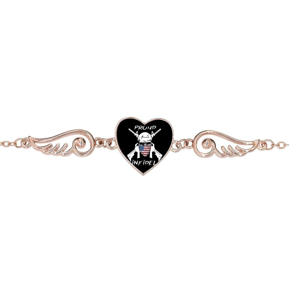 DDuDu Fashion The Old Glory Skull Heart-Shaped Lucky Bracelet Personalized Jewelry
