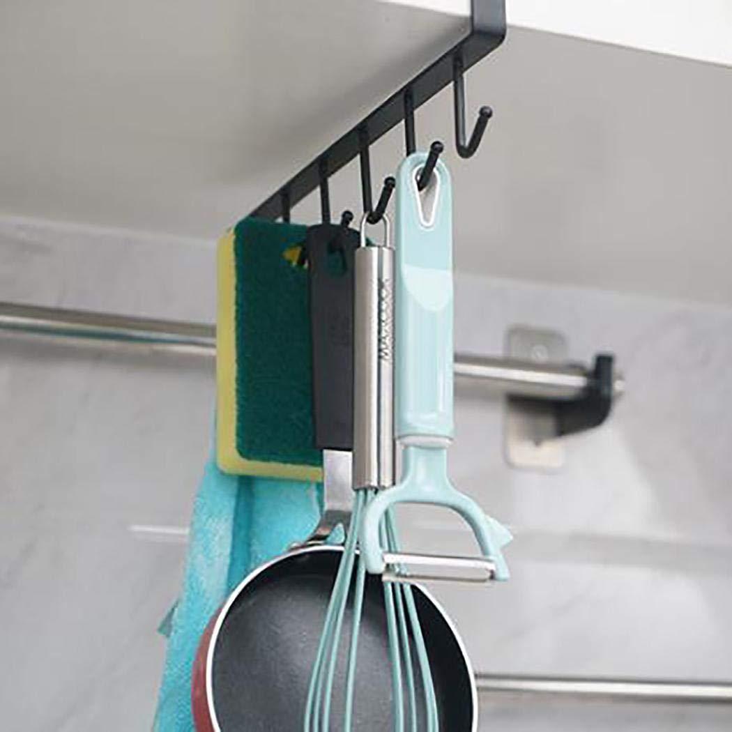 Eroihe Cremagliera di Finitura portaoggetti Posteriore Porta Armadio Multifunzionale in Metallo Ganci Multifunzione