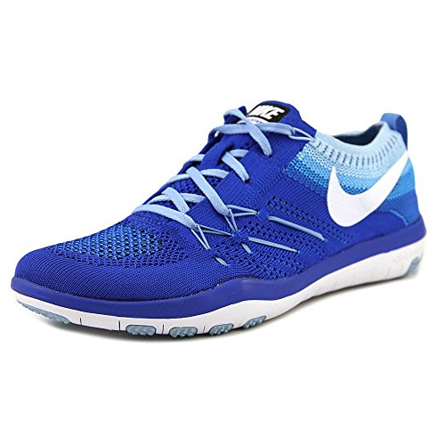 NIKE Womens Free Focus Flyknit Mesh Breathable Trainers Racer Blue/White-bluecap