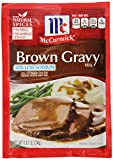 McCormick Less Sodium Brown Gravy Mix, 0.87 oz (Case of 12)