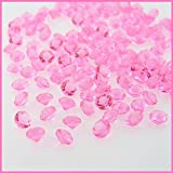 2000 Diamond Table Confetti Wedding Bridal Shower Party Decorations 1/3ct - Many Colors Available. (PINK)