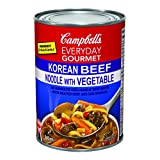 Campbell's Everyday Gourmet Korean Beef Noodle with Vegetable Soup, 540ml, 24-Count