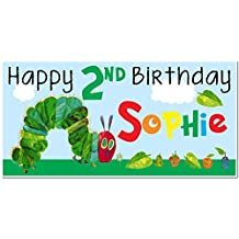 [Patrocinado] The Very Hungry Caterpillar Birthday Banner Personalized Party Decoration Backdrop