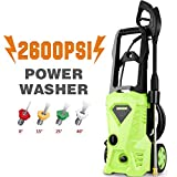 Cheap Homself 2600PSI Electric High Pressure Washer 1.60 GPM 1600W Electric Power Washer with 4 Quick-Connect Spray Tips (2600PSI)