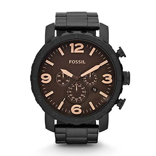 Fossil JR1356 Nate Stainless Steel Watch Black (Fossil 50mm Mens Watch)