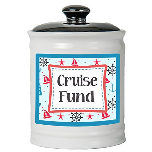 Tumbleweed - Cruise Fund - Ceramic Jar with Black Lid - Cruising - Cruise Gifts - Vacations