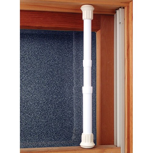 (Set/12) Window Security Bar Locks Onto Frame - Steel Tube Adjusts 17-29 In by Johnson Smith Co. (Image #2)
