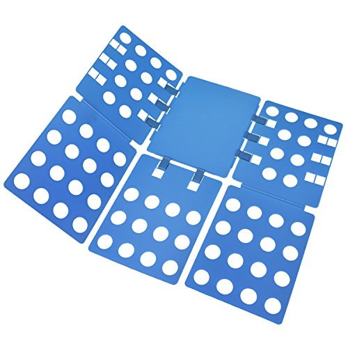 BoxLegend Plastic Adjustable Clothes Folding Board, 23 x 27.5-Inch, Blue