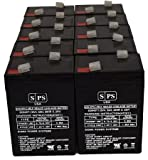 Emergi-Lite SEX 6V 4.5Ah Alarm - Replacement Battery (10 Pack) SPS Brand