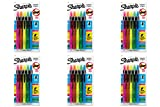 Sharpie Accent Retractable Highlighters, 6 Packs