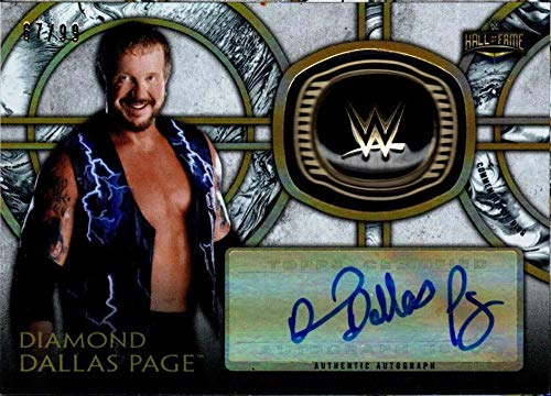 - 2018 Topps Legends of WWE Autograph Commemorative Hall of Fame Ring #HOF-DP Diamond Dallas Page AUTO 67/99 Wrestling Trading Card