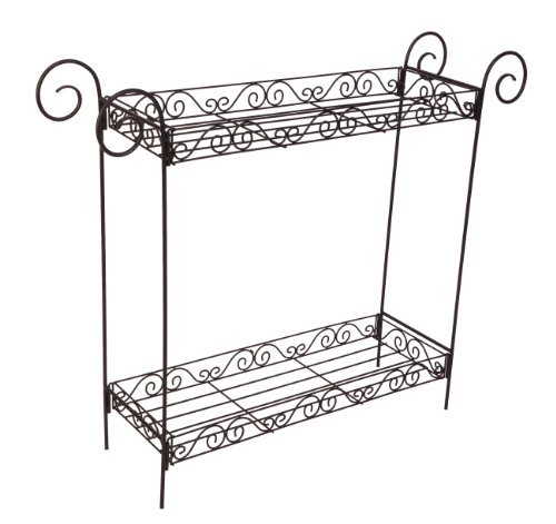 Panacea 86730 Plant Stand, 33-Inch Height, Black (Rectangular Plant Stand)