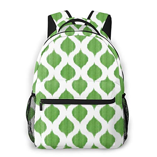Small Scale Lela Ikat in Summer Lawn Laptops Backpack Perfect for Students Office Or Travel