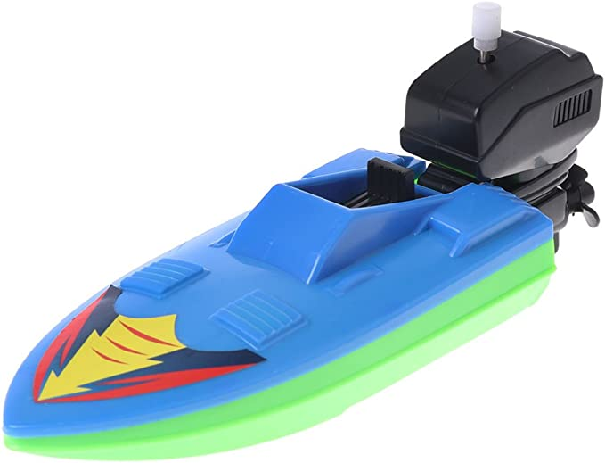 Baby Kids Plastic Windup Water Toy Rowing Boat Cute Duck Boating Shower Bath Toy