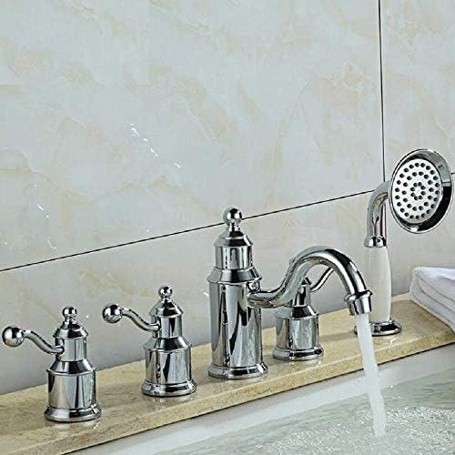 シャワー風呂蛇口シャワー蛇口、すべての銅シリンダー側の蛇口、ヨーロピアンスタイルのホット&コールドシャワー蛇口スーツ。