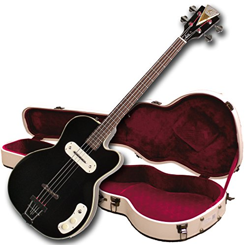 (Kay Vintage Reissue K162VBK Pro Electronic Bass Guitar, Black)