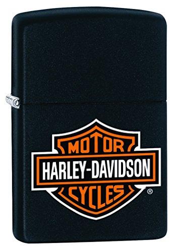 Zippo Harley-Davidson Logo Black Matte Pocket Lighter