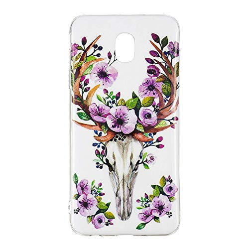 - BatKing Galaxy J3 Achieve/J3 V 2018/J3 2018/Amp Prime 3 2018/Express Pime 3/J3 Star/Galaxy Sol 3 Case,Luminous Glow in The Dark Protective Phone Back Cover TPU Case Samsung J3 2018(Rosette Deer)